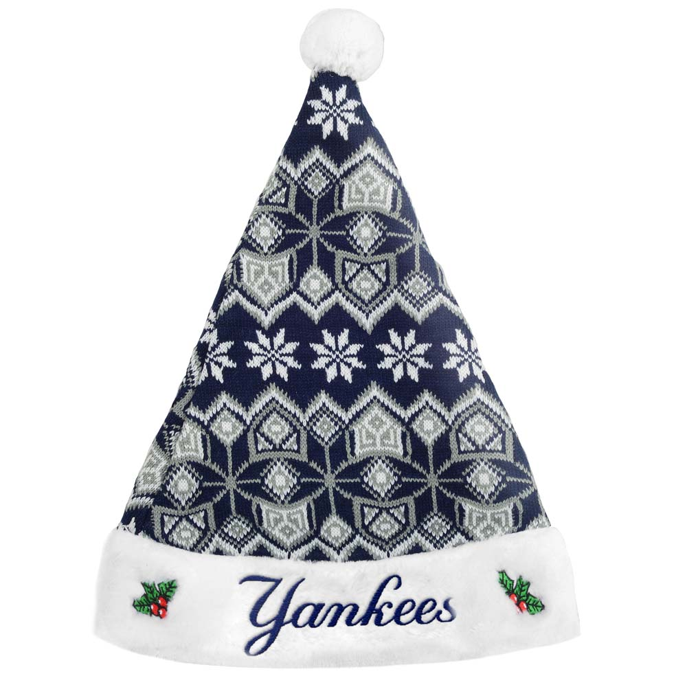 New York Yankees Official MLB 17 inch  Knit Christmas Santa Hat by Forever Collectibles