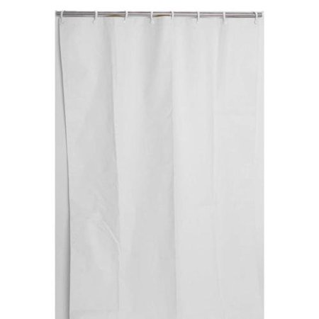 CSI Bathware Heavy Duty White Commercial Shower Curtain For Stall