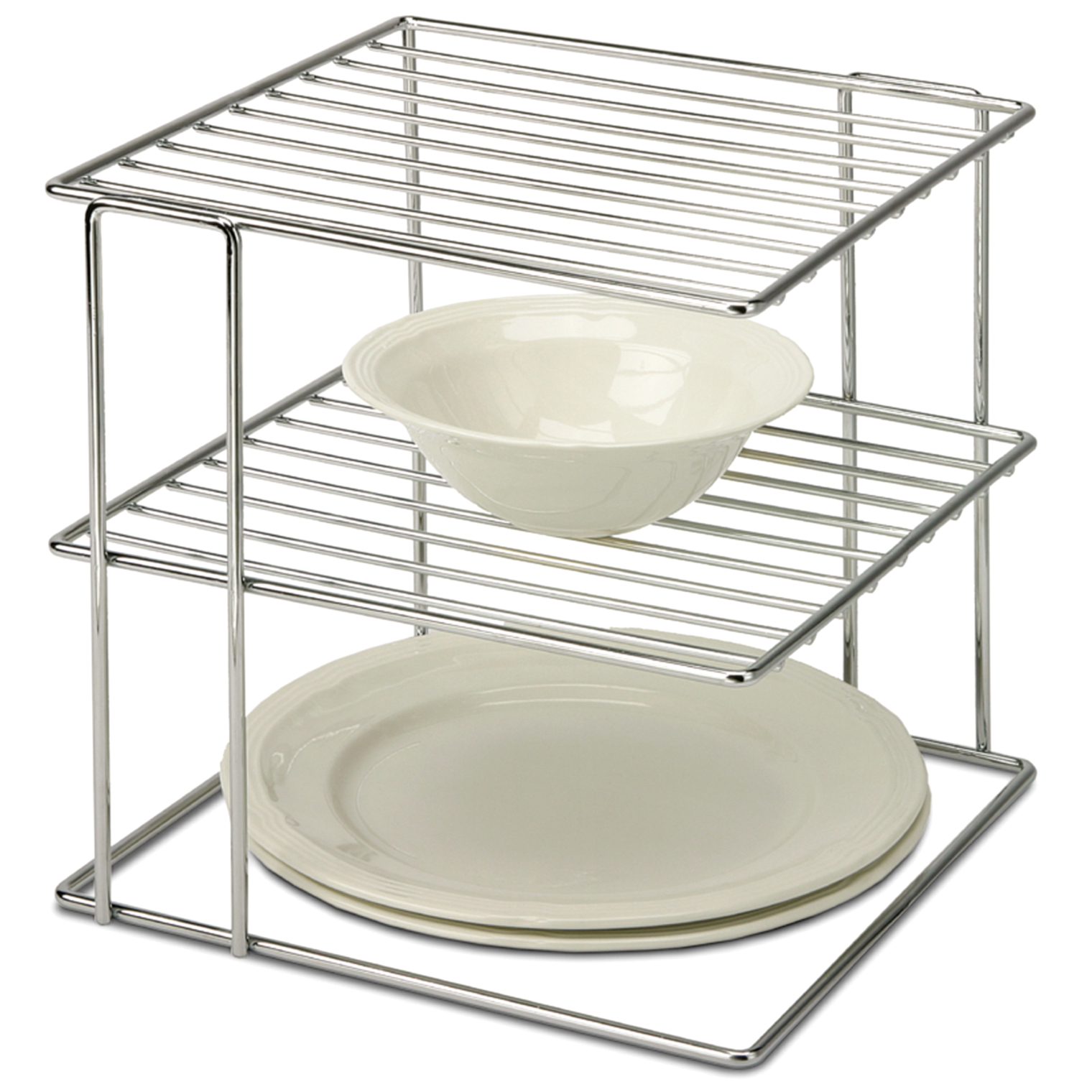 Delicieux Organize It All 1824 2 Tier Chrome Wire Cabinet Corner Shelf