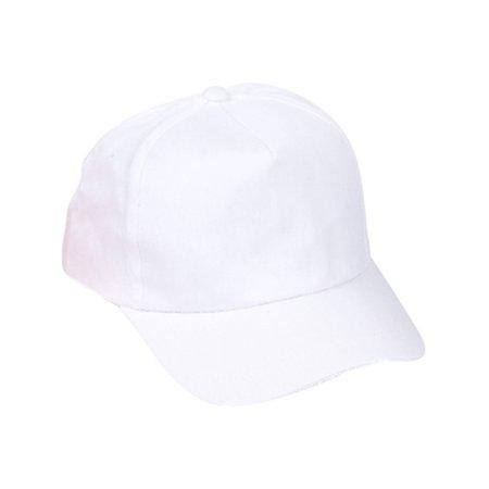 Adults White Color Baseball Hat Costume - White Baseball Hat
