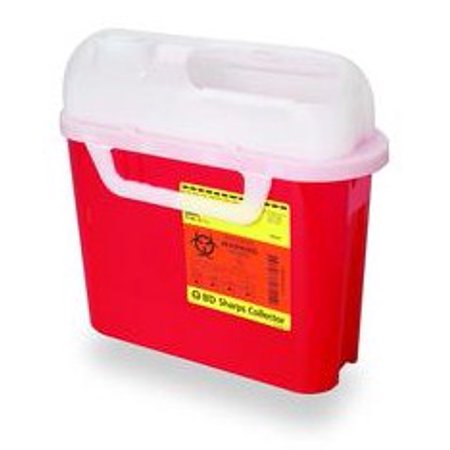 5.4 qt Side Entry Sharps Collectors - Red - 20 Each / Case