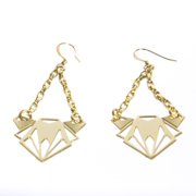 Joomi Lim Geometric Dangle Earrings, Gold