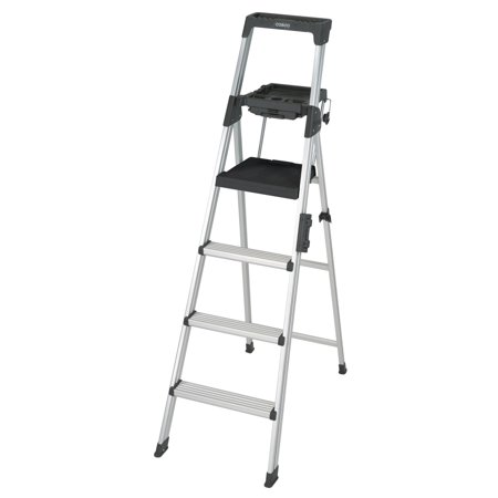 Cosco 6 ft. Signature Series Aluminum Folding Step Ladder with Leg Lock & Handle, 300 lb. Type IA Duty Rating