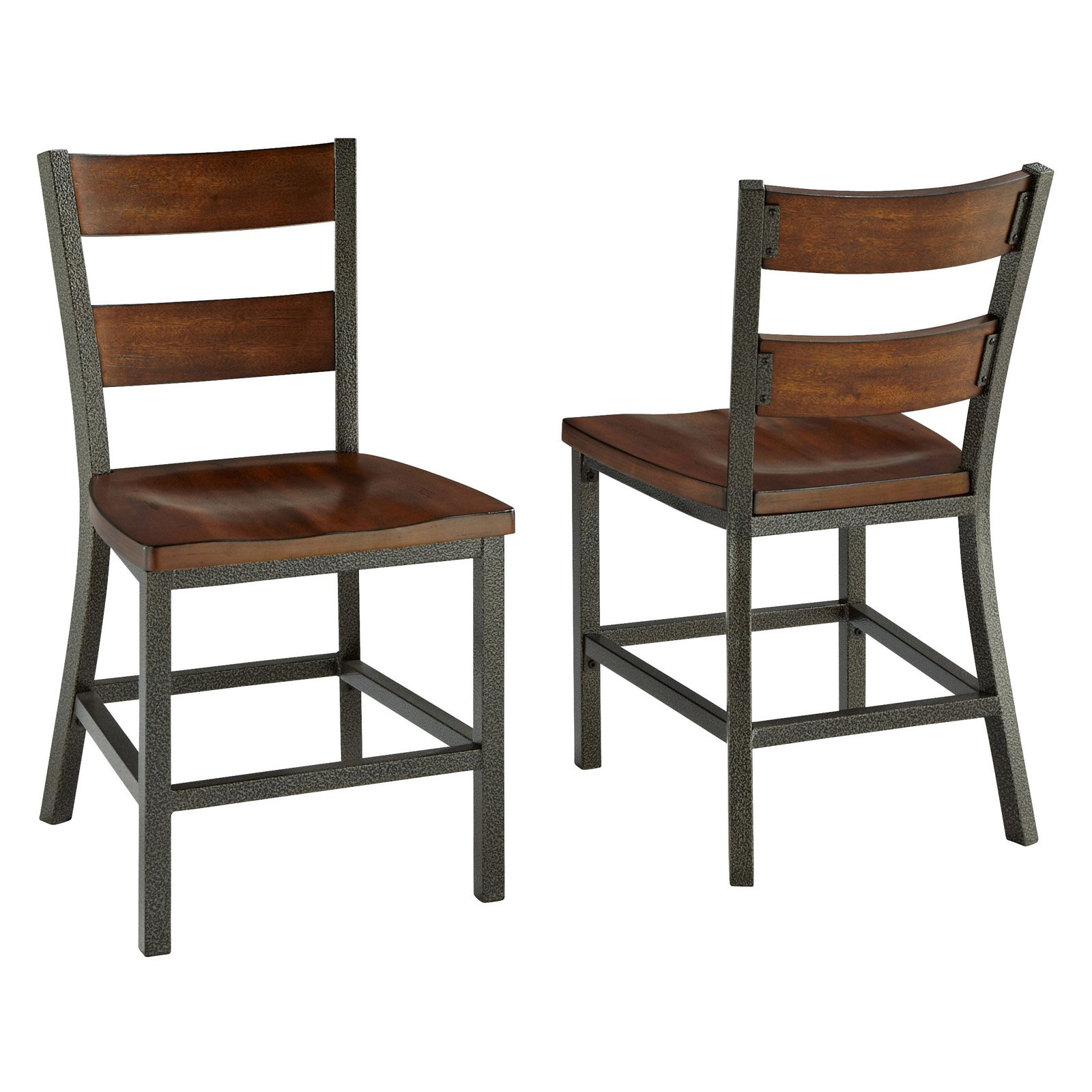 Wood Steel Dining Room Chairs: Home Styles Cabin Creek 2-Piece Dining Chair Set, Chestnut