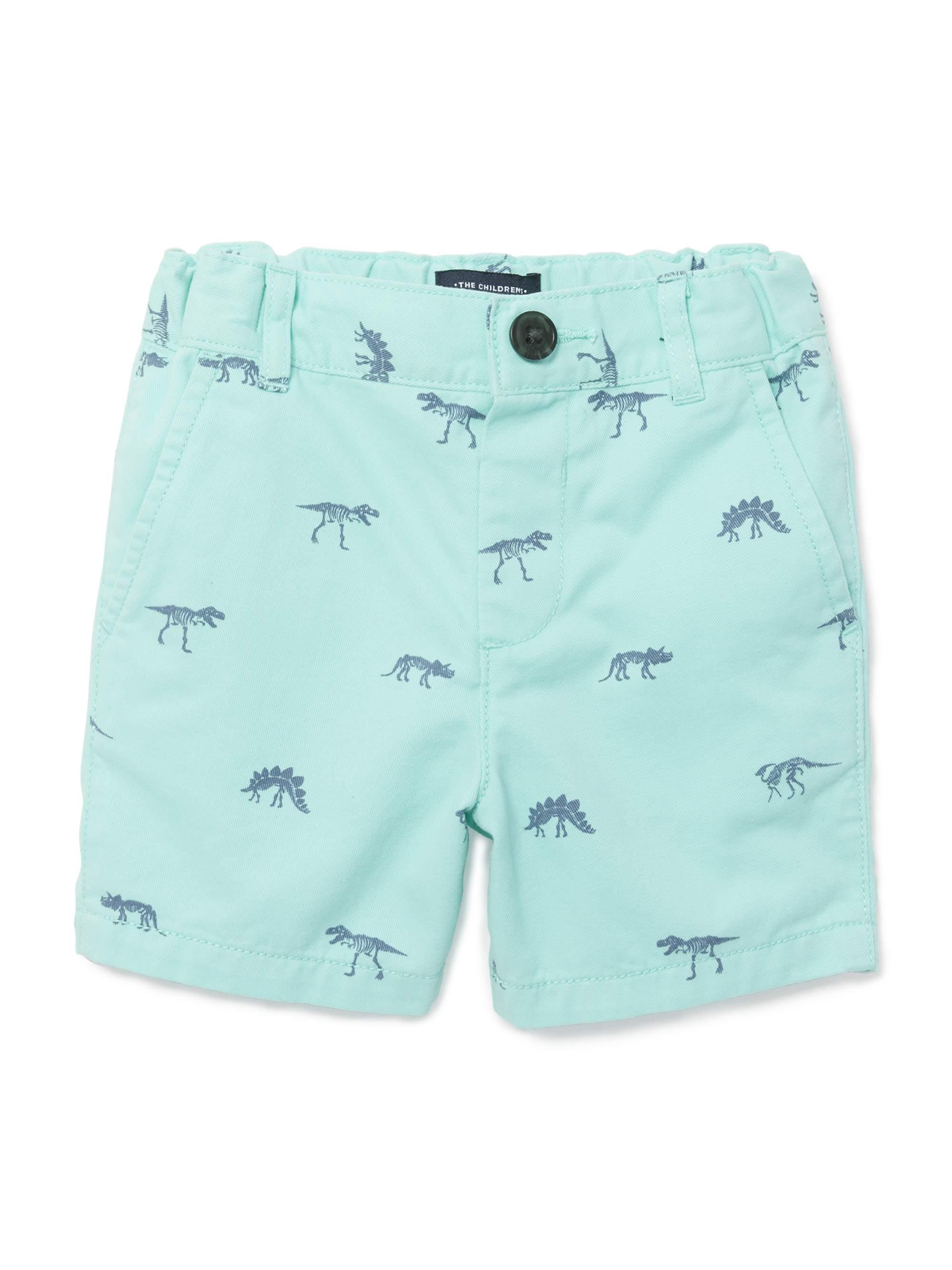 Printed Flat Front Chino Shorts (Baby Boys & Toddler Boys)