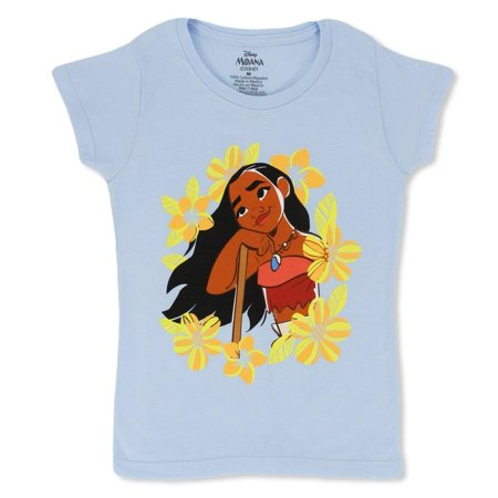 2d79c45b134 Moana Disney Girls T-Shirt Girls T-Shirts with Bold Prints and Fun Colors -  Disney Shirts for Girls - Walmart.com
