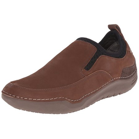 Hush Puppies Men's Brown Leather Crofton Method Slip-On Loafer (Taylor Brown Leather)