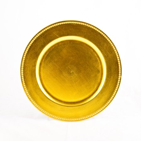 koyal charger plates yellow set of 24