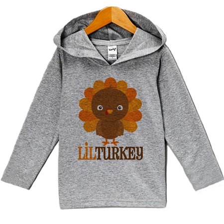 Custom Party Shop Baby Boy's Lil Turkey Thanksgiving Hoodie - 5 (5 Custom Sweatshirt)