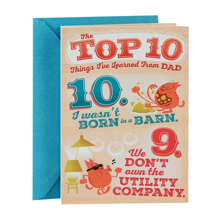 Hallmark Funny Father's Day Card for Dad (Top 10 Things I've Learned from Dad Pop Up)](Halloween Pop Out Card)