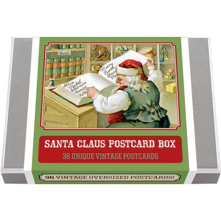 Postcard Books-Postcard Books: Santa Claus Postcard Box - 36 Unique Vintage Postcards - Vintage Halloween Book Boxes