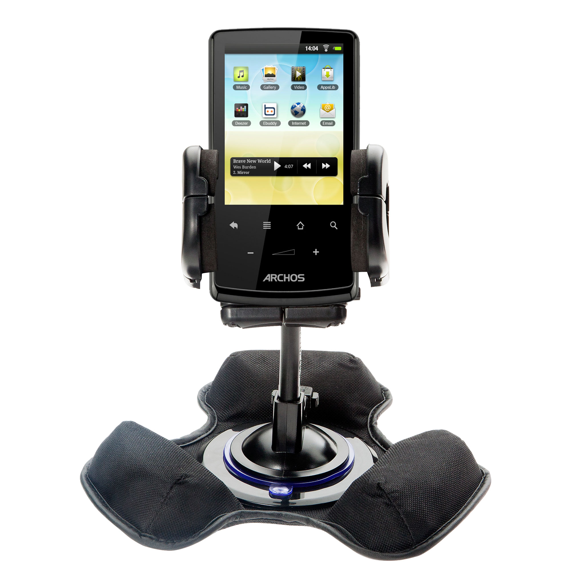 Car   Truck Vehicle Holder Mounting System for Archos 28   32   43 Internet Tablet Includes Unique Flexible Windshield... by