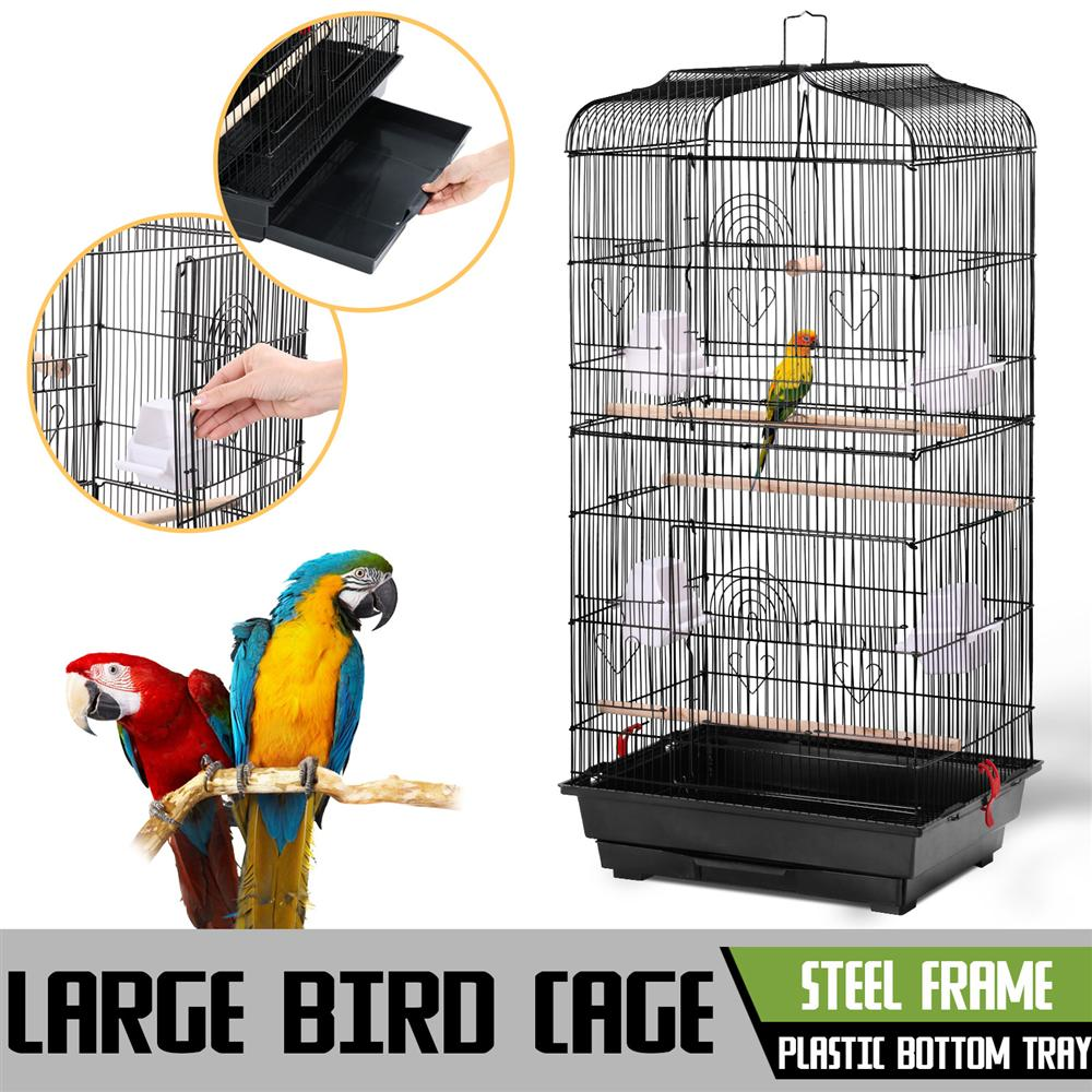 Large Metal Bird Cage Budgie Parrot Canary Cockatiel
