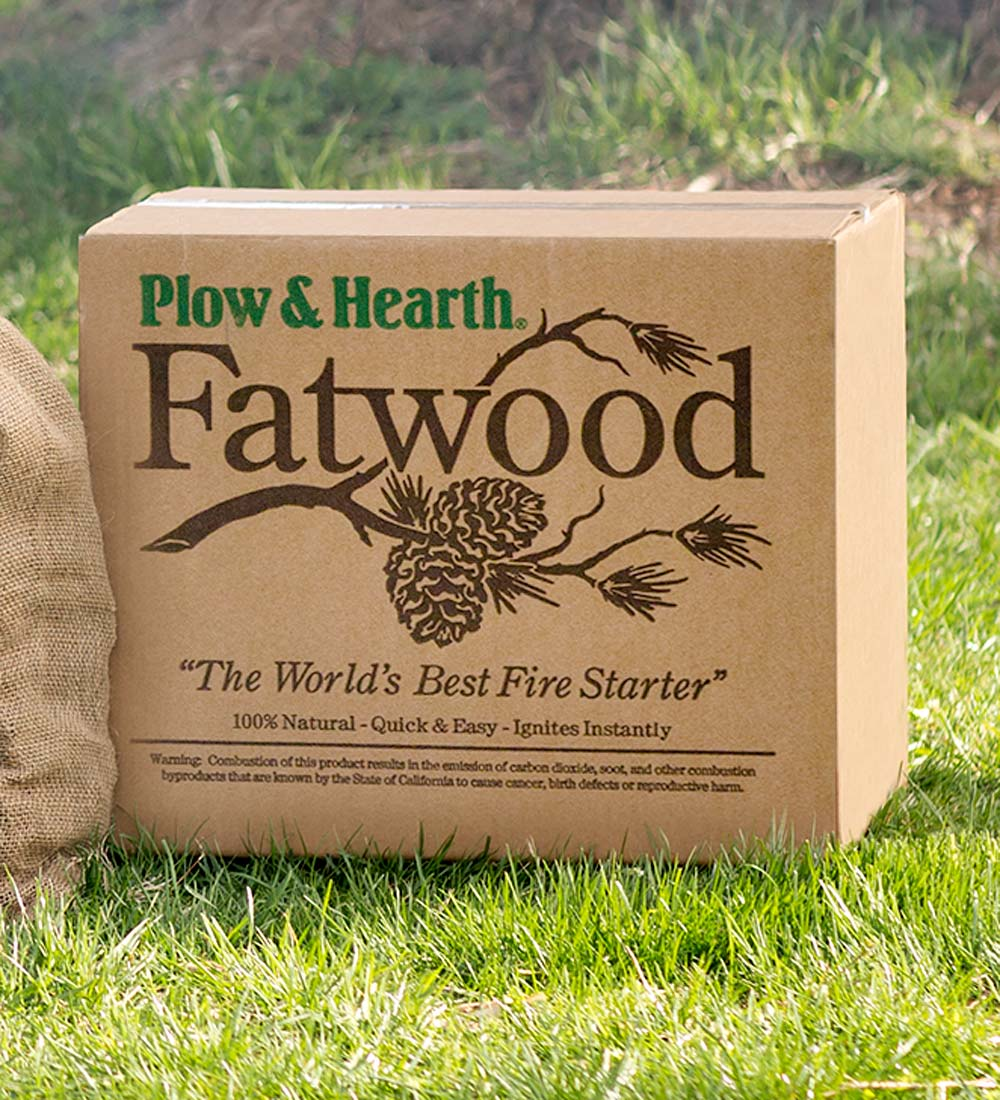Easy-Start Fatwood Fire Starter, 50 lb. Box of Fatwood by Plow & Hearth