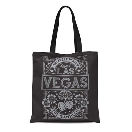 LADDKE Canvas Tote Bag Ace Vintage Gamble Casino Las Vegas Tee Graphics Spade Reusable Shoulder Grocery Shopping Bags Handbag ()