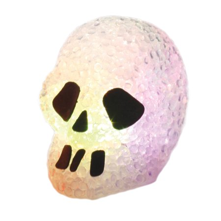 Fun World Sparkle Light-Up Halloween Skull Prop Table Decoration, 3
