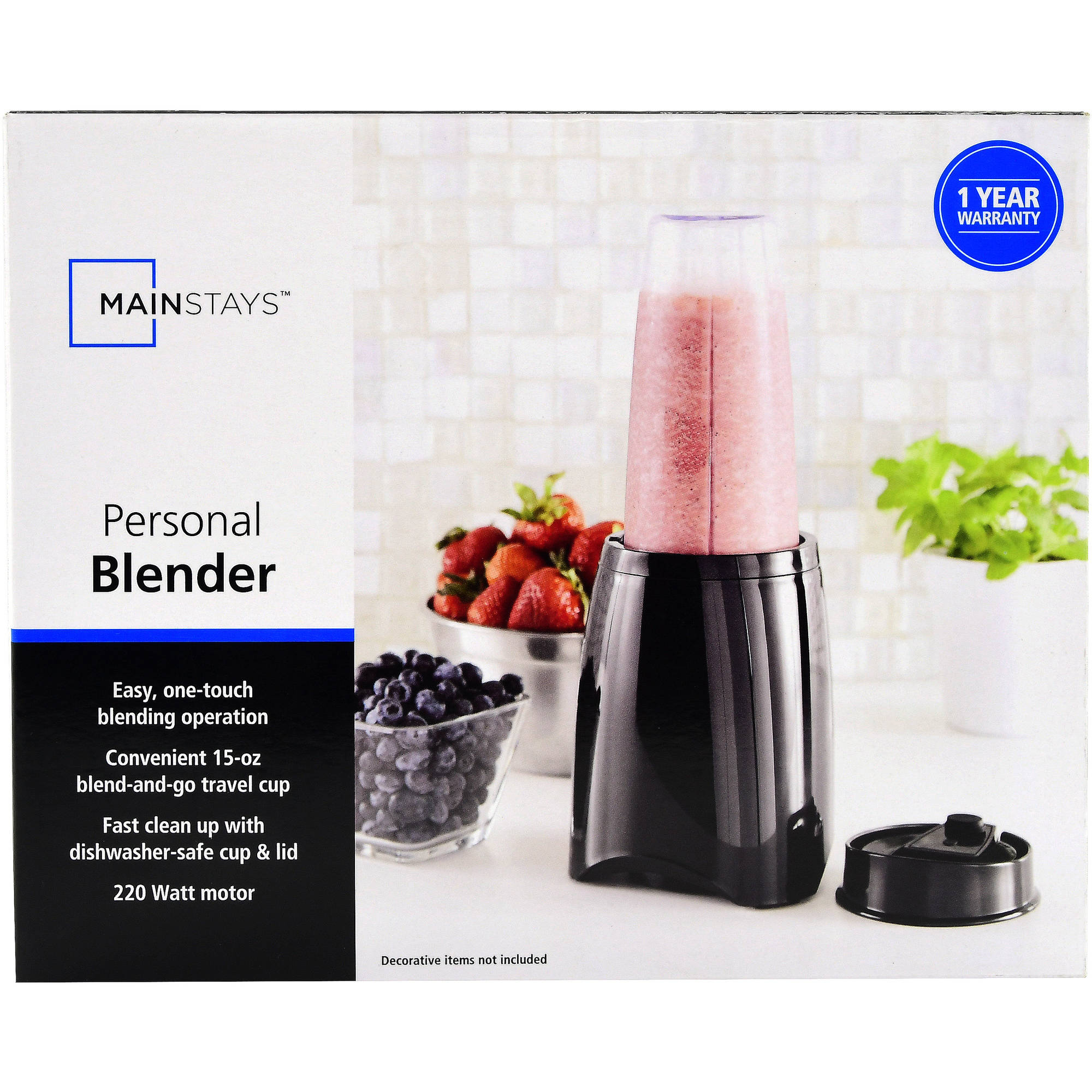 Mainstays Personal Blender, Black