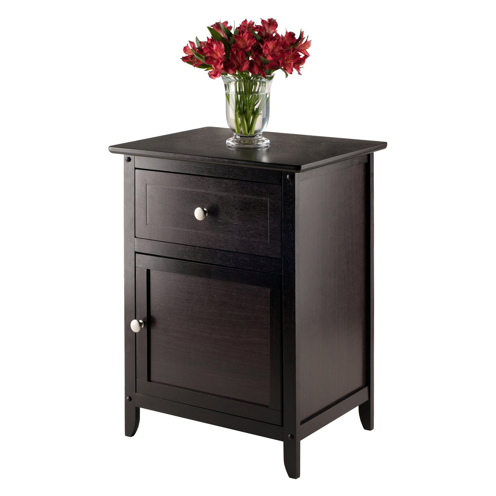 Night Table With Cabinet and Drawer Multiple Colors Walmartcom