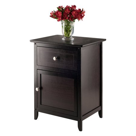 Winsome Trading Night Table With Cabinet and Drawer, Multiple - Lily Rose Night Table