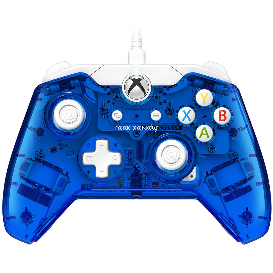 PDP Rock Candy Wired Controller for Xbox One, Blueberry Boom