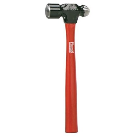 Ball Pein Hammer Straight Hickory Handle 10 1 2 in Forged Steel 8 oz H
