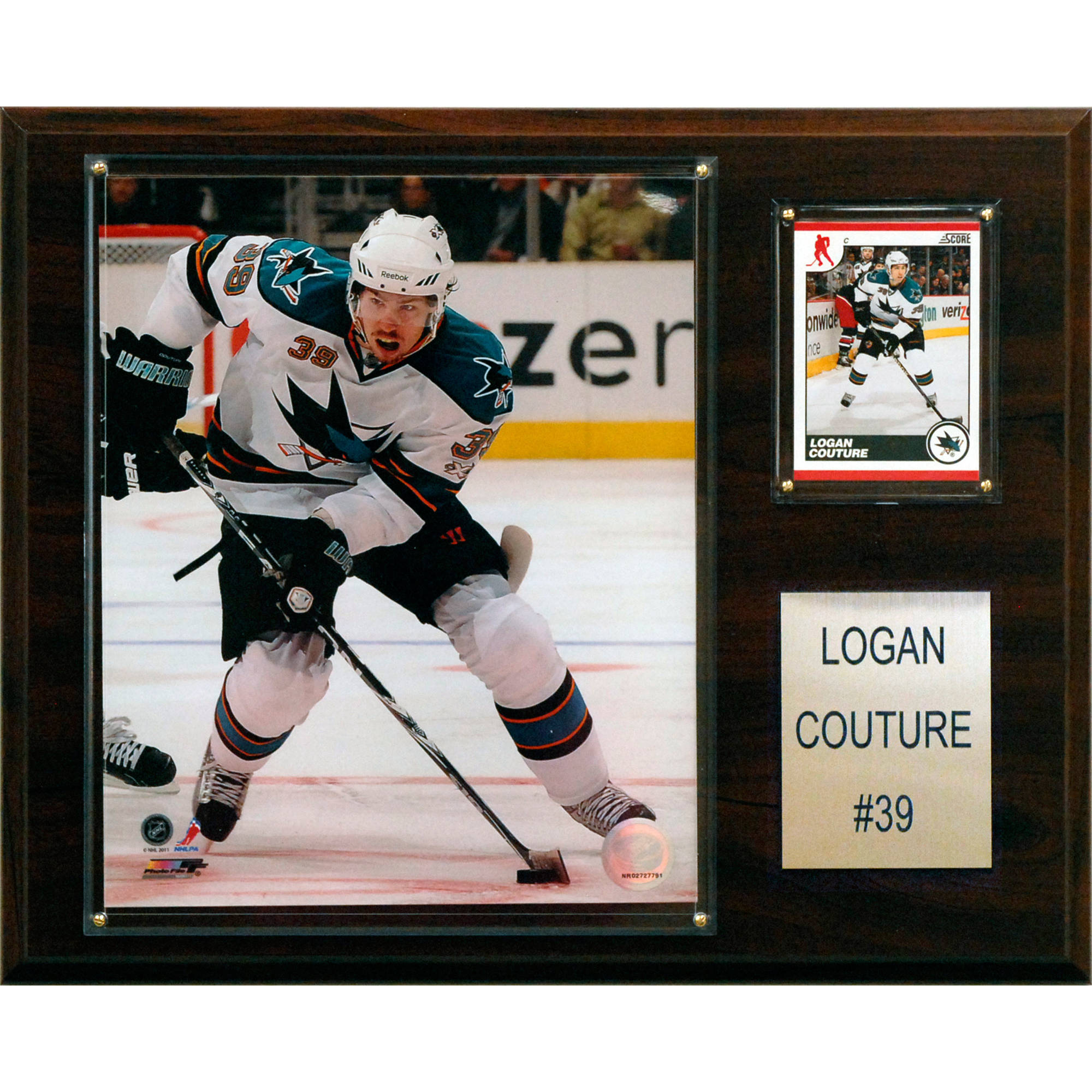 C&I Collectables NHL 12x15 Logan Couture San Jose Sharks Player Plaque