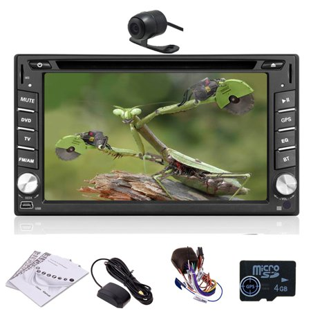 EinCar 6.2 inch In Dash Car DVD Player Stereo GPS sat nav Navigation System Support Bluetooth/SD/USB/DVR/3G/1080P+Rear (In Car Entertainment System With Sat Nav)