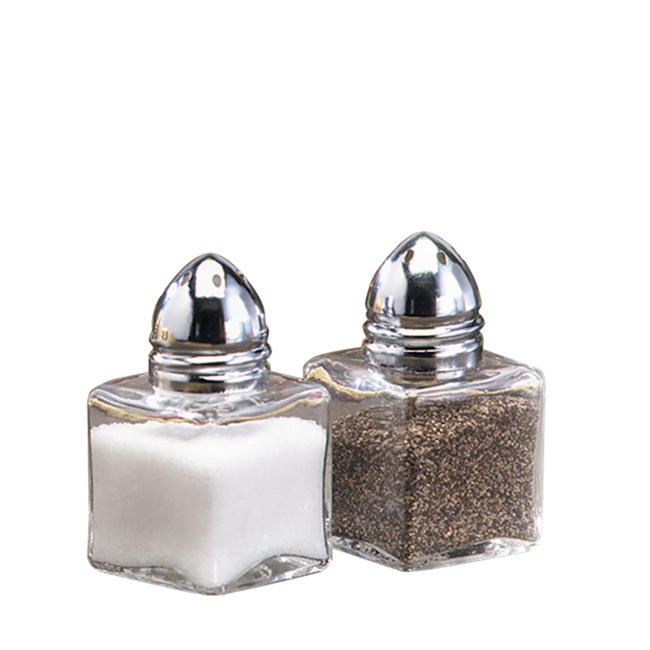 Mini Cube Salt And Pepper Shaker 0.5 Oz