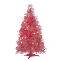 Mini Pink Christmas Tree: 24 inches