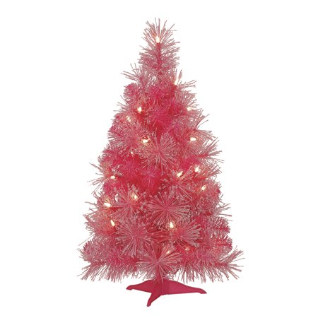 Mini Pink Christmas Tree: 24 inches - Walmart.com