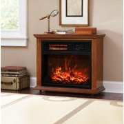 "28"" Electric Fireplace 1500W 3D Flame Embedded Insert Heater Cabinet, Oak"