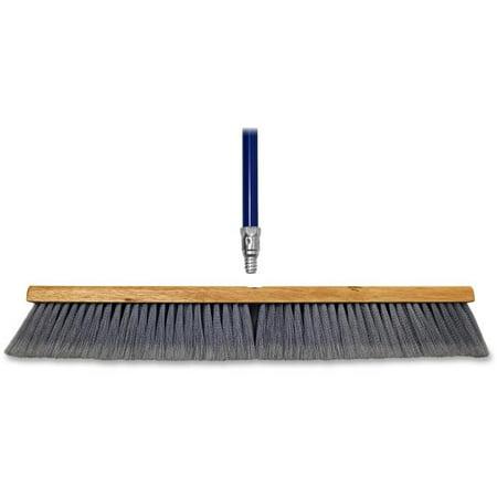 24 in. All Purpose Metal Handle Flagged Sweeper - - Metal Sweeper