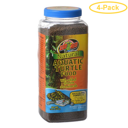 Zoo Med Natural Aquatic Turtle Food - Hatchling Formula (Pellets) 15 oz - Pack of