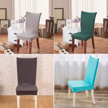 Cekuan Spandex Stretch Washable Dining Stool Chair Cover Protector Slipcover Wedding Party Restaurant Home Decor - image 2 of 2
