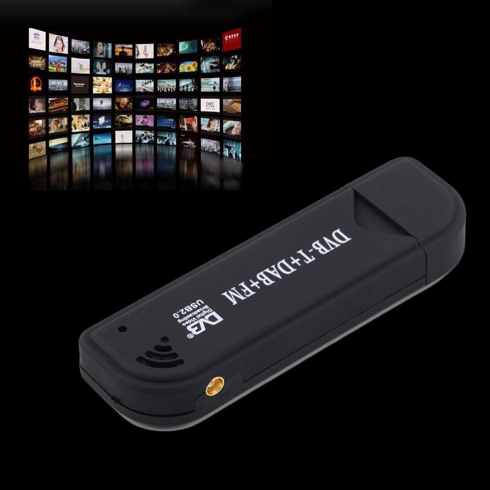RTL2832U FC0012 DVB-T USB Digital TV Tuner Receiver Support Laptop PC Satellite TV Receiver 128M RAM 6/7/8 MHz 800MHz CPU