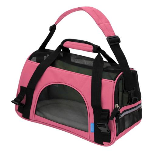 Oxgord Soft-Sided Cat/ Dog Comfort Travel Pet Carrier Bag (Small) Pink