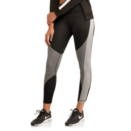 Athletic Works Womens Active Heathered Colorblock Performance Leggings
