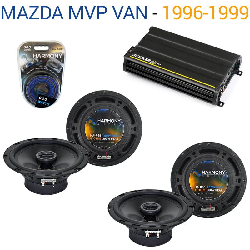 Mazda MPV Van 1996-1999 OEM Speaker Replacement Harmony (2) R65 & CX300.4 Amp - Factory Certified Refurbished