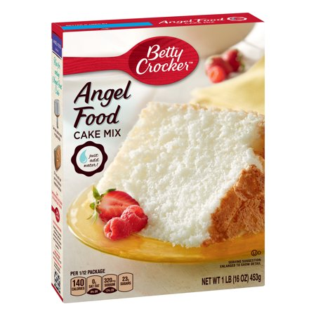 (2 Pack) Betty Crocker Super Moist Angel Food Cake Mix, 16 oz ()