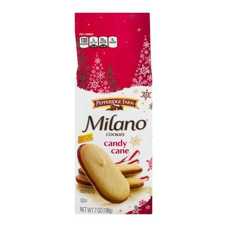 Pepperidge Farm Milano Cookies Candy Cane  7 0 Oz