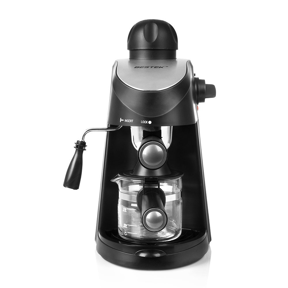BESTEK 3.5 Bar Steam Coffee Maker Cappuccino Coffee and Espresso Maker Machine Latte Home Coffee Machine with... by Bestek