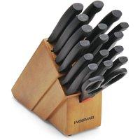 Farberware 18-Piece Never Needs Sharpening Knife Block Set