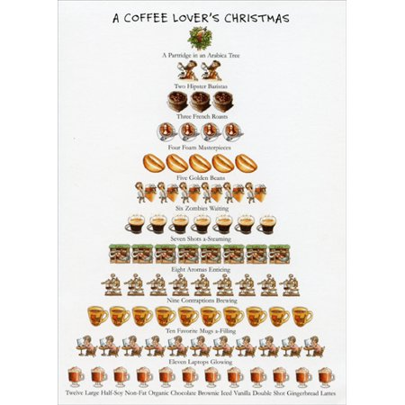 Coffee Christmas Cards.Allport Editions Coffee Lover S Christmas 12 Days Of Christmas Box Of 15 Christmas Cards