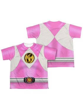 Power Rangers - Pink Ranger Emblem (Front/Back Print) - Youth Short Sleeve Shirt - X-Large