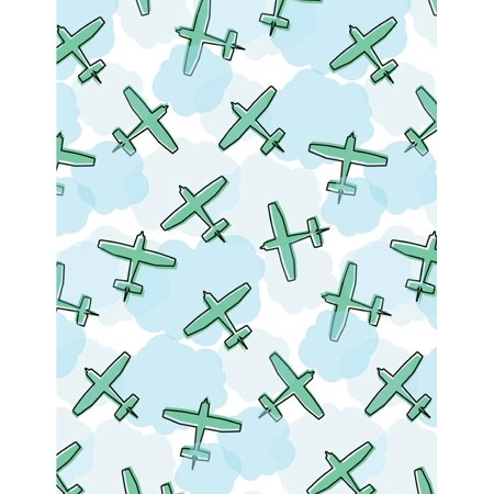 Personal Ruled Notepaper - Cloud Notebook: Blue Sky Air Plane Journal Lined Ruled Page Paper for Kids Teen Girl Boy Women Men Preschool Kindergaten Primary School Great for Writing Cute Diary Note Pad Planner College Compositio
