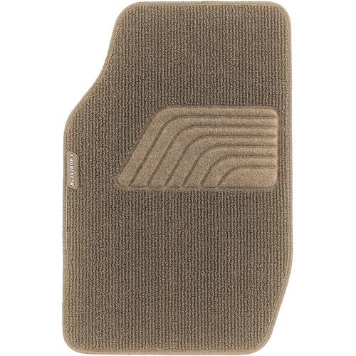 Goodyear 4pc Premium Carpet Floor Mats Tan Walmartcom