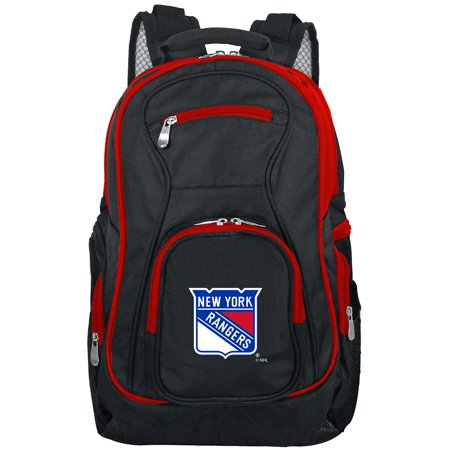 - NHL New York Rangers Premium Laptop Backpack with Colored Trim