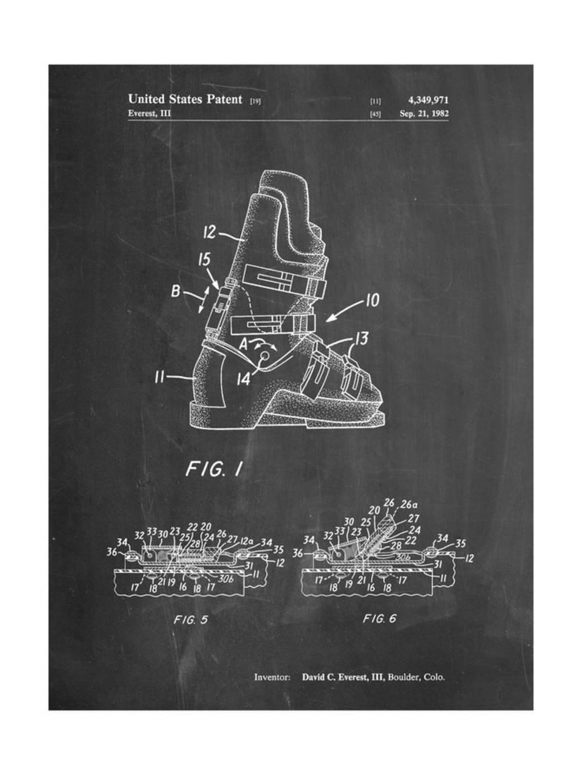 Ski Boots Patent Print By Cole Borders by Art.com