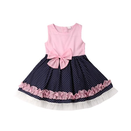 Pageant Polka Dot - Newborn Baby Girl Polka Dot Birthday Wedding Pageant Formal Party Tulle Dress