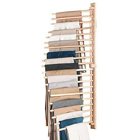 Collections Etc Wall Mount Trouser Pant Closet Organization Rack